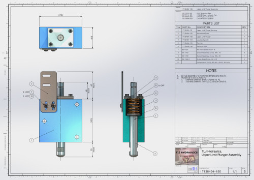 remCAD Assembly Drawing